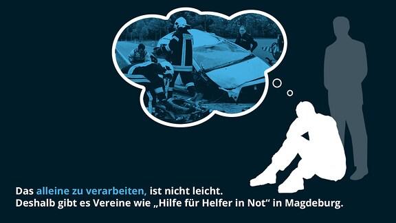 """Das alleine zu verarbeiten, ist nicht leicht. Deshalb gibt es Vereine wie """"Hilfe für Helfer in Not"""" in Magdeburg."""