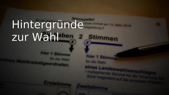 Stimmzettel zur Landtagswahl in Sachsen-Anhalt - deutsch