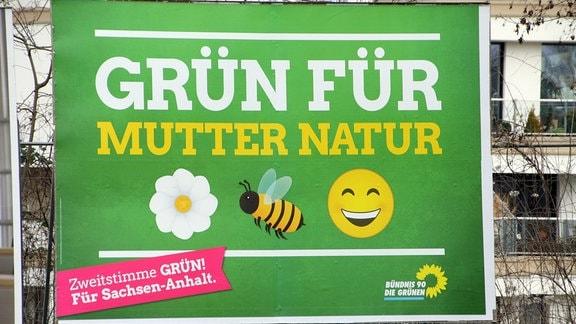 Ein Wahlplakat von Bündnis 90/Die Grünen
