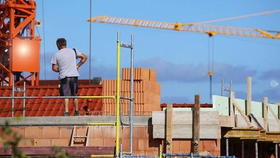 Maurer auf der Baustelle