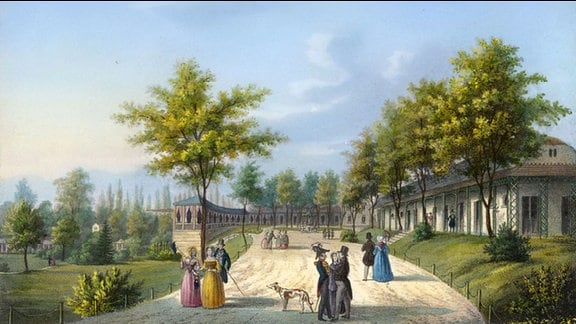 Badepark Bad Muskau um 1845