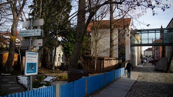 Glasbrücke am Museum in Kamenz.