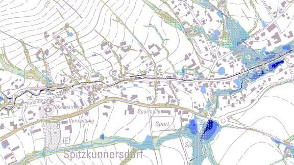 Leutersdorfer und Spitzkunnersdorfer Starkregenkarte