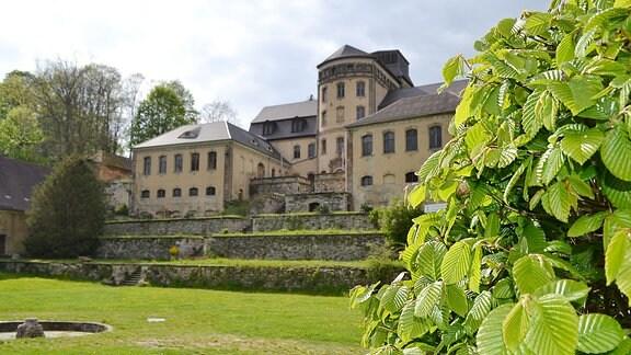 Die Schlossanierung geht voran am Schloss Hainewalde.