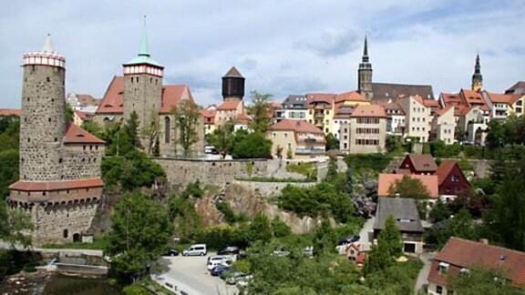 Blick zur Bautzner Altstadt.