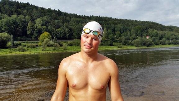 Chemnitzer schwimmt bis nach Hamburg