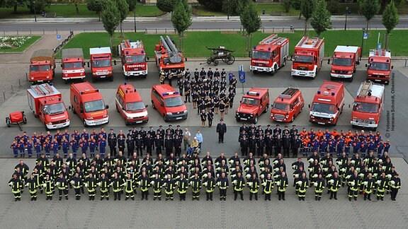 Gruppenfoto der Olbernhauer Feuerwehr