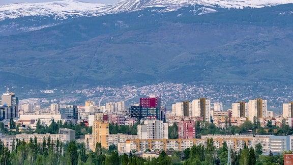 Blick auf die Stadt Sofia in Bulgarien