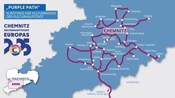 Karte Purple Path