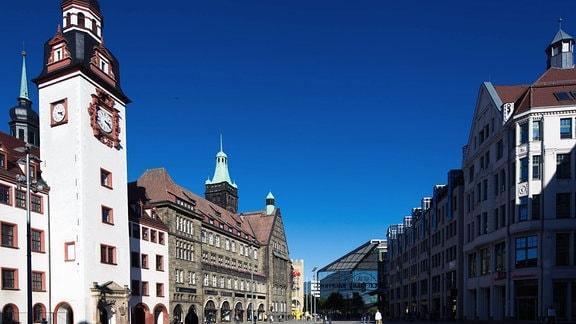 Das Rathaus von Chemnitz.