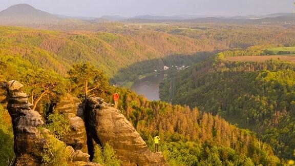 Schrammsteinaussicht im Elbsandsteingebirge