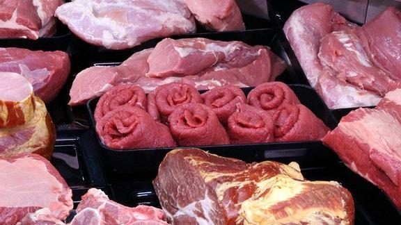 Fleischwaren in einer Metzgerei