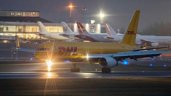 Flugzeuge auf dem Flughafen Leipzig