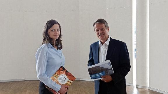 Stadtplanerin Friederike Wachtel und Marktforscher Eddy Donat.