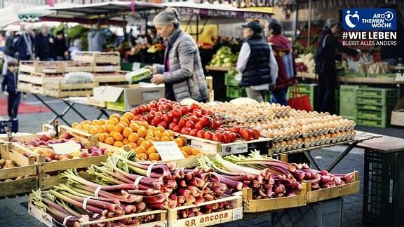 Wochenmarkt Stuttgart auf dem Marktplatz