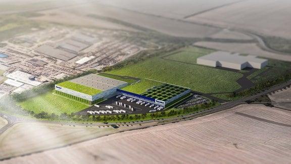 Fotomontage des geplanten Hub in Leipzig