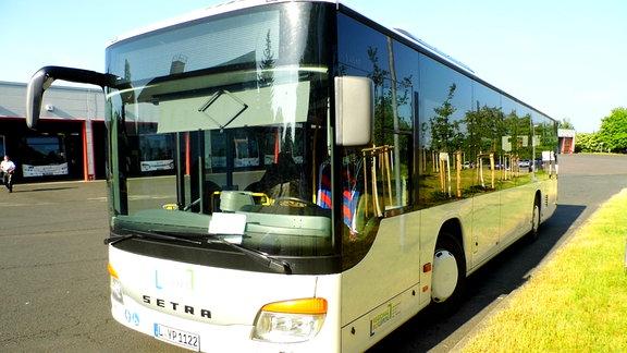 Ein Bus des Unternehmens Regionalbus Leipzig GmbH.