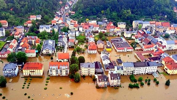 Luftbilder der Flut in Sachsen im Juni 2013