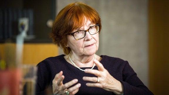 Dr. Nora Goldenbogen, Präsidentin des Landesverbandes Sachsen der jüdischen Gemeinden.