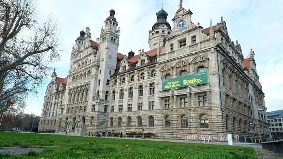 das Neue Rathaus in Leipzig