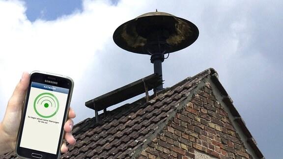 Sirene und Smartphone