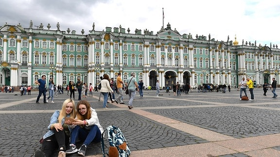 Touristen in Sankt Petersburg