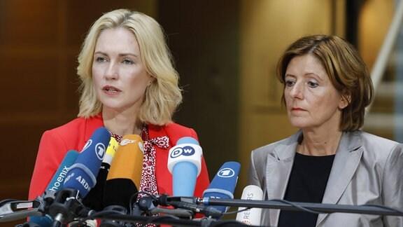 SPD-Ministerpräsidentinnen Manuela Schwesig und Malu Dreyer 2019