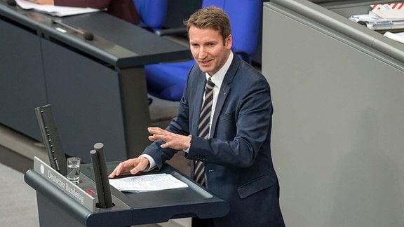 Patrick Sensburg, CDU, bei seiner Rede gegen den AfD-Antrag.
