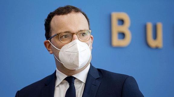 Bundesgesundheitsminister Jens Spahn mit Maske