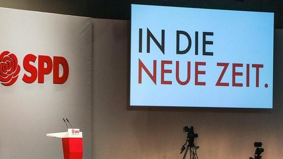 Vorbereitung des SPD-Bundesparteitages