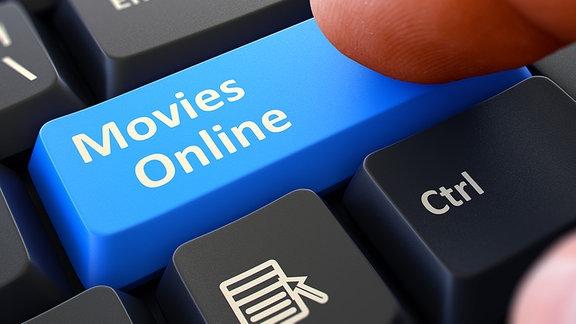 Tastatur mit Aufschrift - Movies Online.