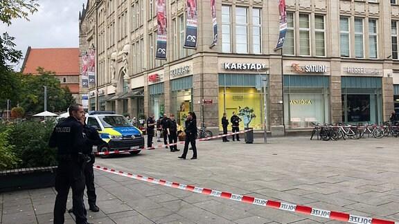 Polizeieinsatz nach Messerattacke am Erfurter Anger
