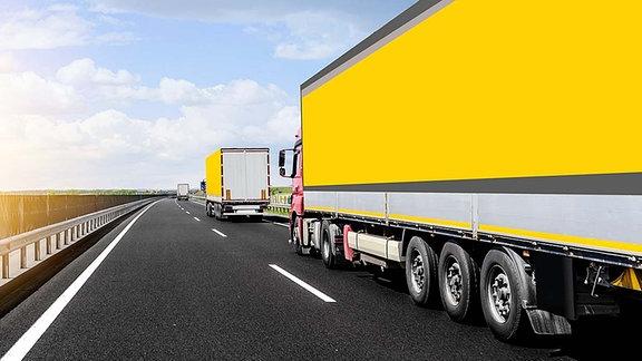 Illustration - Autobahn mit LKW
