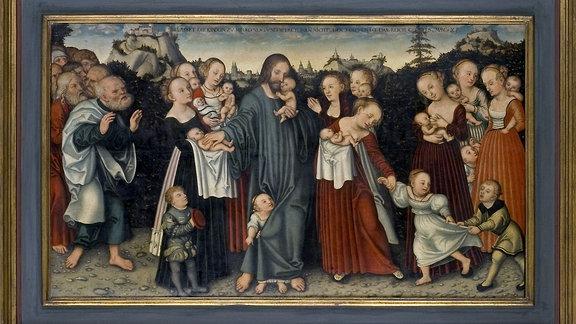 """Gemälde """"Kindersegnung"""" von Cranach"""