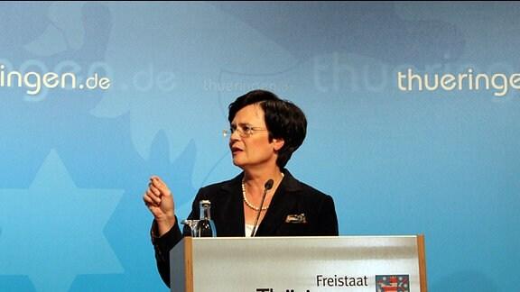 Ministerpräsidentin Christine Lieberknecht