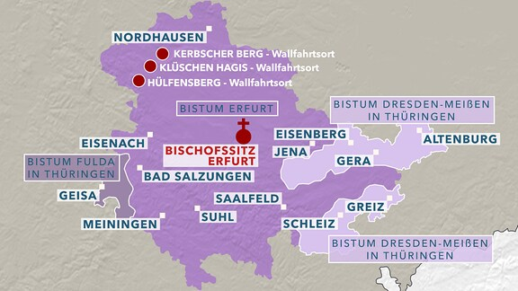 Karte Bistum Erfurt