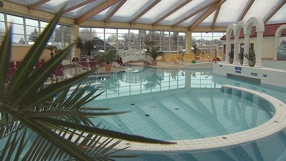 Ein Freizeitbad in Rudolstadt von innen.
