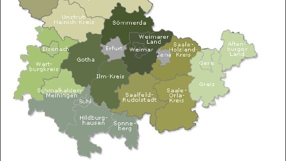 Experten schlagen acht Thüringer Landkreise vor - Gebietsreform