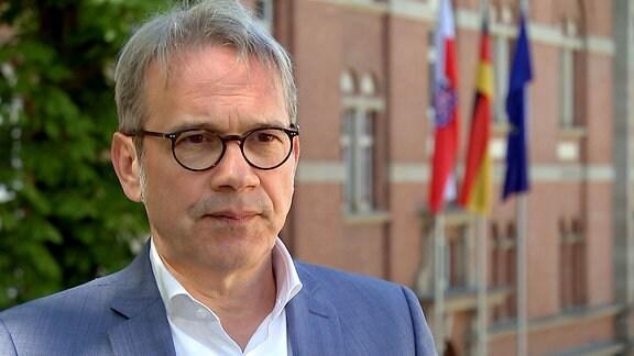 Innenminister Georg Maier bei einem Interview.