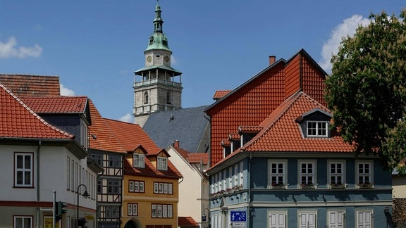 Blick auf die Innenstadt von Bad Langensalza