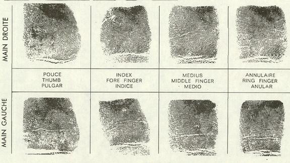 Fingerabdrücke von Udo Albrecht