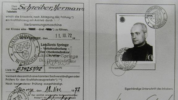 Pass Hermann Schreiber bzw. Udo Albrecht