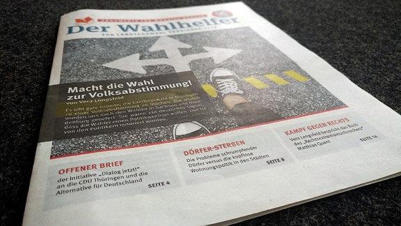 Der Wahlhelfer Zeitung Landtagswahl Thüringen