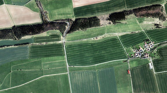 Luftbildaufnahme von Altdörnfeld