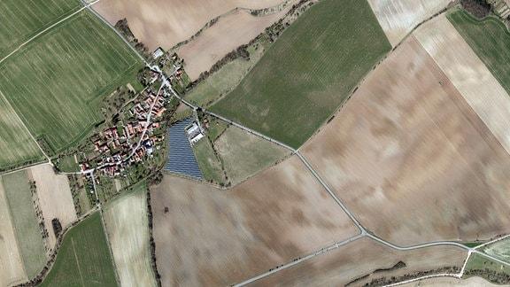 Luftbildaufnahme von Alterstedt