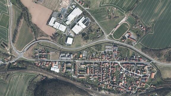 Luftbildaufnahme von Arenshausen