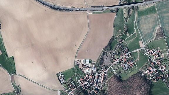 Luftbildaufnahme von Kospoda