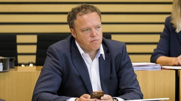 Dr. Mario Voigt (CDU), in der 119. Plenarsitzung des Thüringer Landtags am 24. Mai 2018.