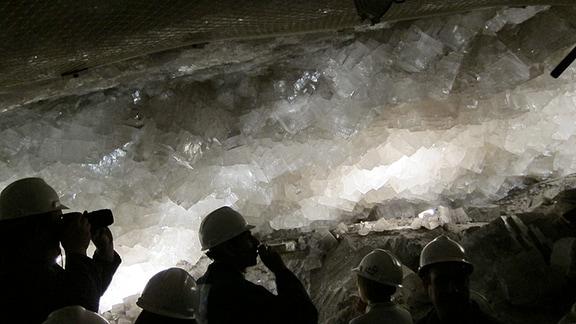 Kristallsalzgrotte im Kalibergwerk Merkers