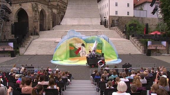 Eine Aufführung während der Erfurter Domstufenfestspiele 2021